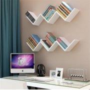 EECOO Fashionable Creative Floating Wall Shelf Rack Organizer Hanging Bookshelf Home DecorWhite