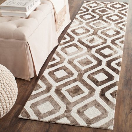 "Safavieh Dip Dye 2'3"" X 6' Hand Tufted Rug in Ivory and Chocolate - image 9 de 10"