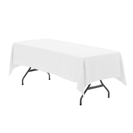 YCC Linen - 60 x 126 inch Rectangular Polyester Tablecloth White for $<!---->