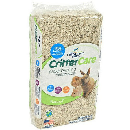 Crittercare: Light Brown/Natural For Small Animals Bedding, 14 L - (1)Lasts twice as long as shavings By Critter Care