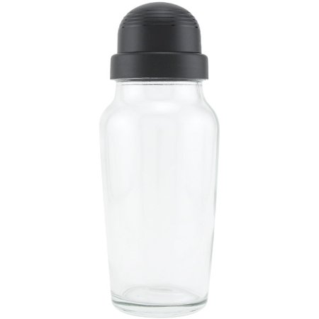 Crystal Glass Shaker - Libbey Glass Cocktail Shaker with Black Lid - 19.75 oz