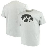 Men's Heathered Gray Iowa Hawkeyes Big & Tall Classic Crew Neck T-Shirt