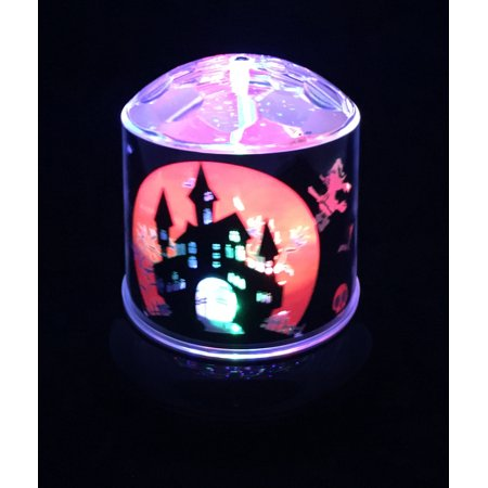 Creative Motion 14160 Halloween Battery-Operated LED Projector Light with Haunted House - Creative Lighting Displays Halloween