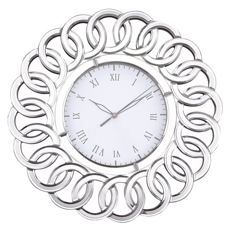 Sterling Chatelaine Wall Clock with Mirror
