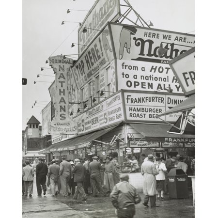 Nathans Hot Dog Stand - NathanS Hot Dogs Food Stand On The Coney Island Boardwalk History