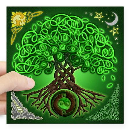CafePress - Circle Celtic Tree Of Life Square Sticker 3 X 3 - Square Sticker 3