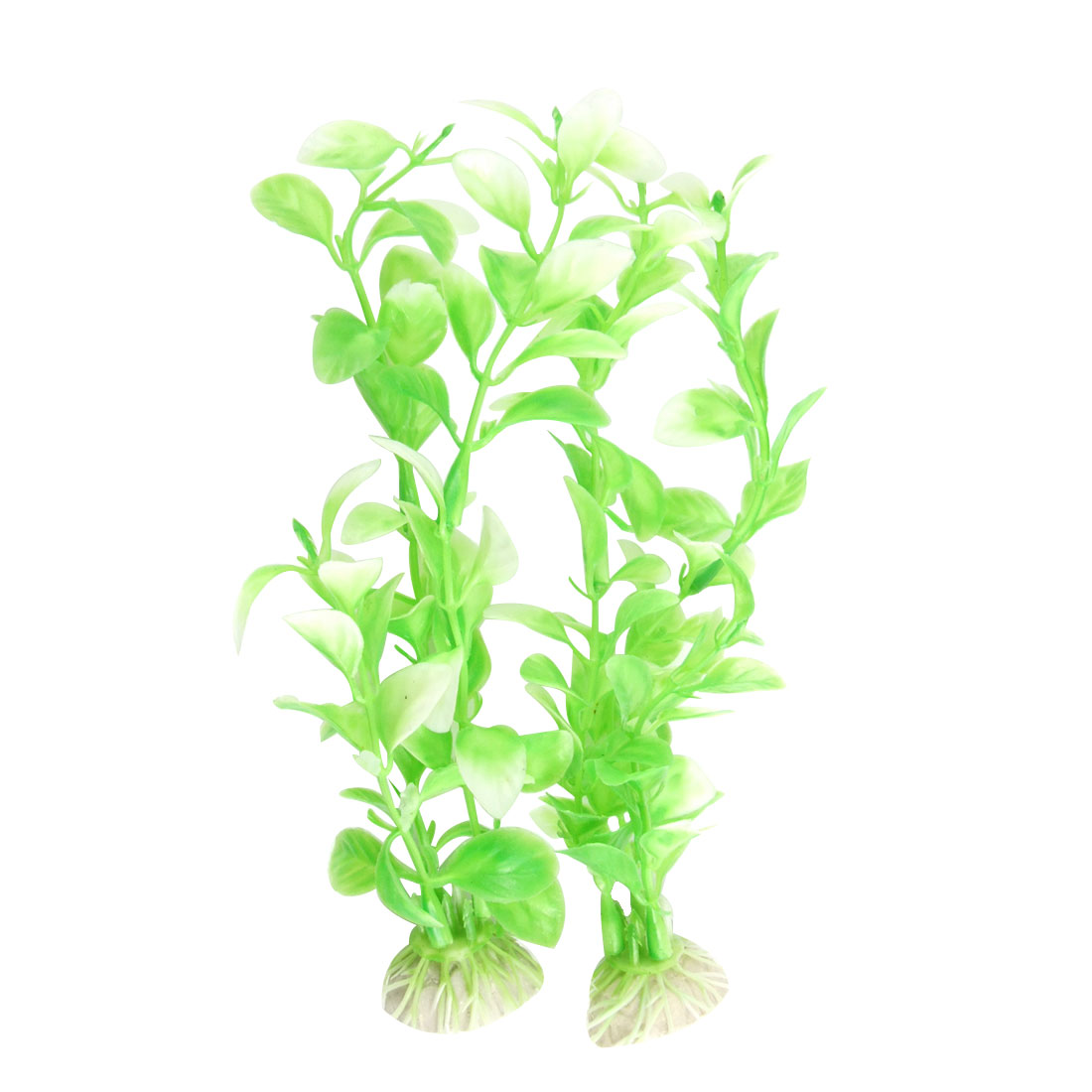 2 Pcs Green Plastic Grass Underwater Plant for Tank Pond