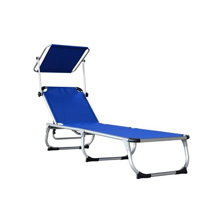 Incredible Orno Ttobe Folding Lounge Chair Relaxer Bed With Sun Shade Outdoor Portable Gmtry Best Dining Table And Chair Ideas Images Gmtryco