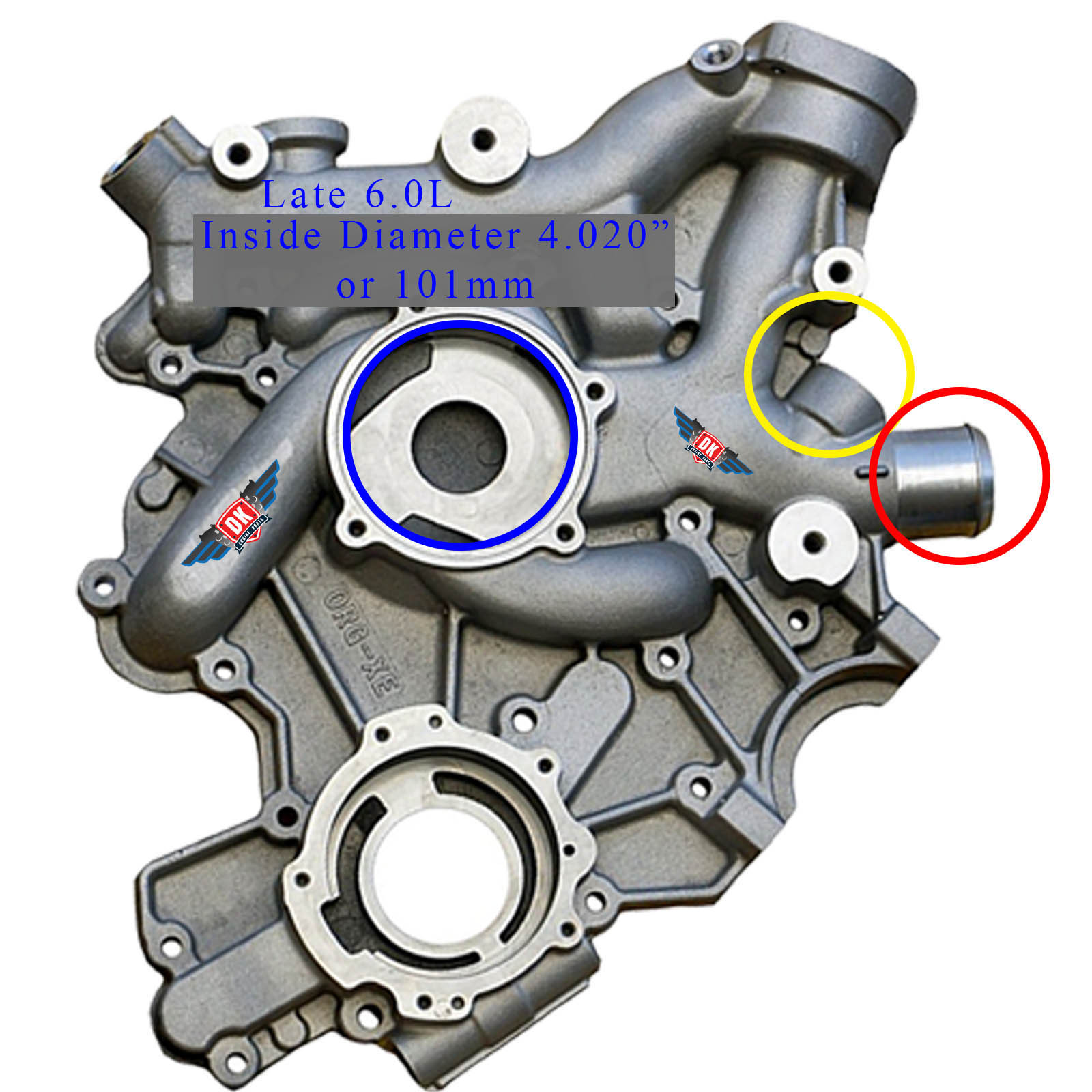 Fits Ford Powerstroke 6.0L DK Engine Parts 2004.5-2010 New Front Cover Assembly with Gaskets