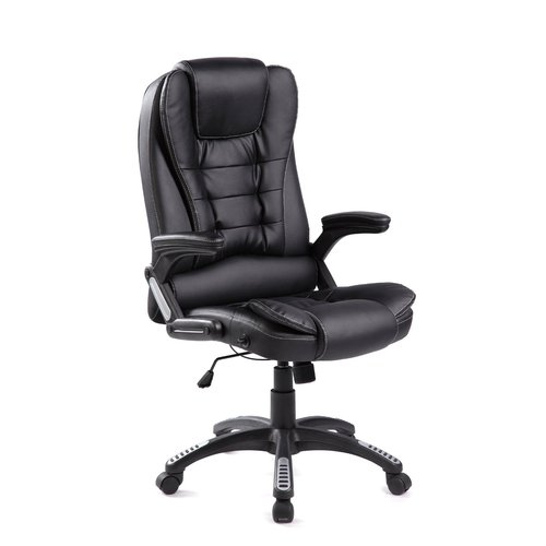 Merax High-Back Black Leather Office\/Executive Gaming Chair