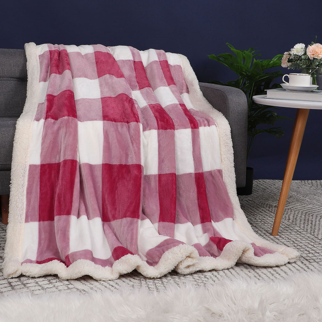 Quilts Lounge wear. Striped Flannel Fabric Cuddly Soft for making Blankets