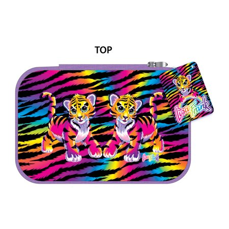 Lisa Frank Pencil Case with Plastic Zipper