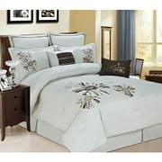 12pc Luxury Bed in a Bag- Park Avenue Beige/ Chocolate/ Copper