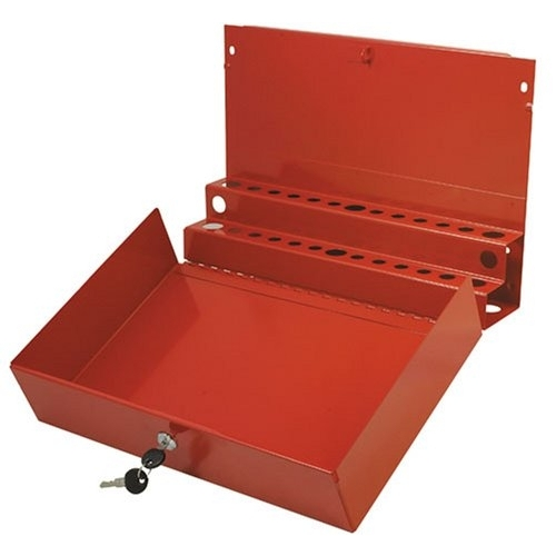 Sunex Tools Large Locking Screwdriver and Prybar Holder for Service Cart, Red 8011 by Sunex Tools