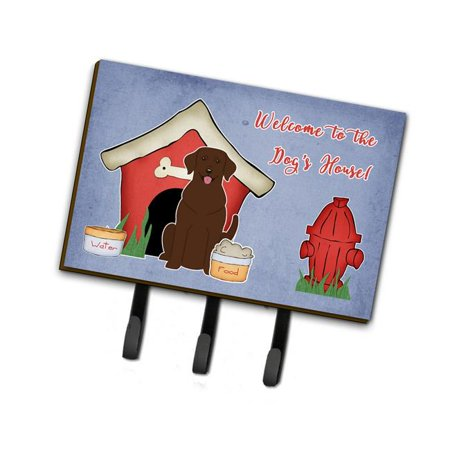 Carolines Treasures BB2810TH68 Dog House Collection Chocolate Labrador Leash or Key Holder - image 1 of 1