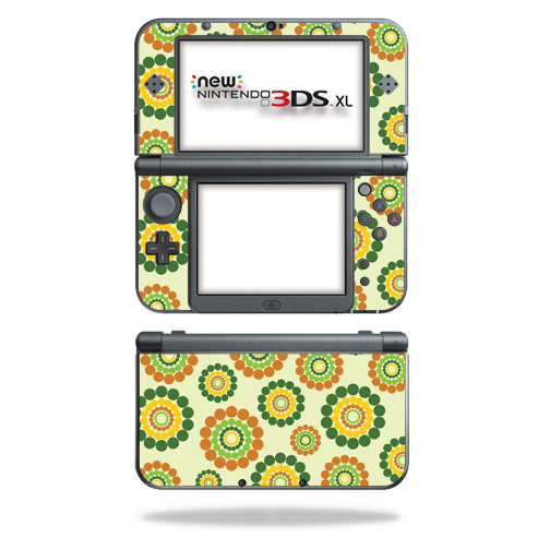 MightySkins Protective Vinyl Skin Decal for New Nintendo 3DS XL (2015) Case wrap cover sticker skins Flower Power
