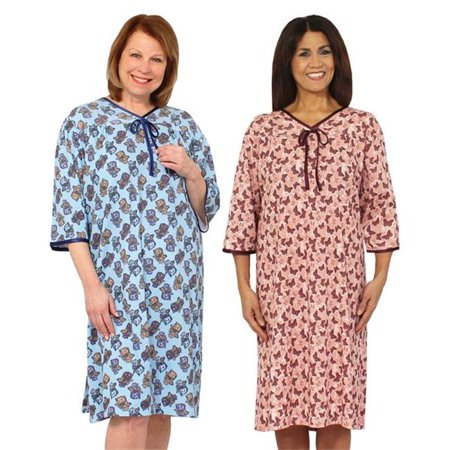 dbb71351a84d4 Silverts 260500101 Womens Hospital Patient Gowns - Small - Pack of 2 -  Walmart.com