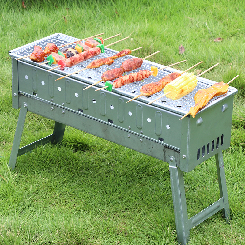 Folding BBQ Charcoal Barbecue Grill Portable Outdoor Camping Picnic Stove LB