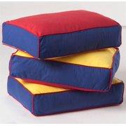 Back Pillow Cores w 3 Colors Cotton Cover - Set of 3