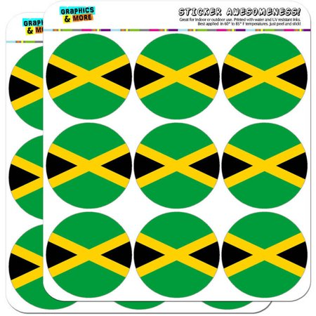 """Jamaica National Country Flag 18 2"""" Planner Calendar Scrapbooking Crafting Stickers"""