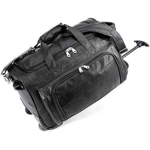 FAA Approved Carry-On Rolling Duffel Bag, Black