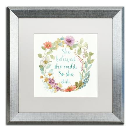 Trademark Fine Art 'Rainbow Seeds Wreath I' Matted Framed Art by Lisa Audit