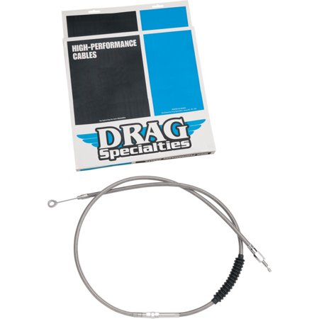 Drag Specialties 0652-1534 Alternative Length Braided High Efficiency Clutch Cable - 50in.