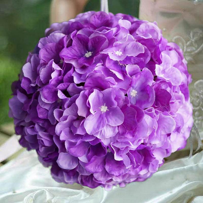 "Efavormart 4 Pack 7"" Silk Hydrangea Flower Balls for DIY Wedding Bouquets Centerpieces Arrangements Decorations Wholesale Supplies"