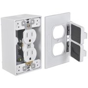 Hubbell Electrical FCD35-W Duplex Outlet Kit, White