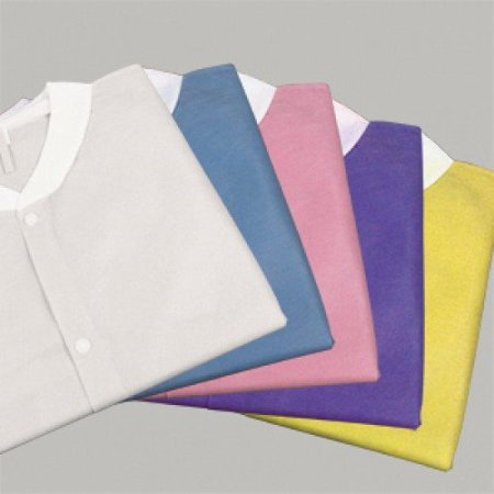 Static Lab Coats Sms Material (Lab Coat SMS With Three Pockets; White, Dark Blue, Teal - ALL SIZES 3bags/10pcs/cs (Small/3bags/10pcs/cs,)