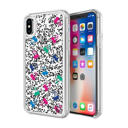 Refurbished Incipio Kkiph 006 Chbpg Iphone X Kendall   Kylie Liquid Glitter Case  Cherries Black Pink Green Blue