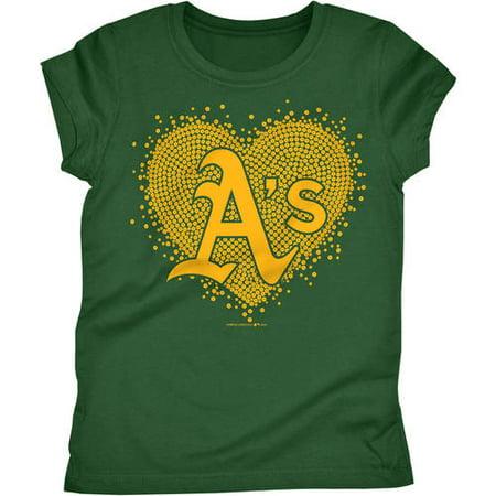 Oakland Athletics Girls Short Sleeve Graphic Tee