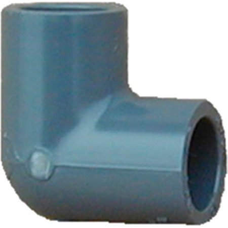 GENOVA 300 Series 307108 Pipe Elbow 1 in Slip 90 deg Gray