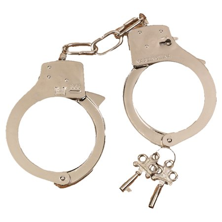 Morris Costumes Handcuffs Metal, Style FW8009 - Metal Handcuffs