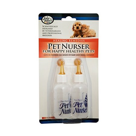 Four Paws Pet Nurser Feeding Bottle Kit, 2 Oz, 2 Ct