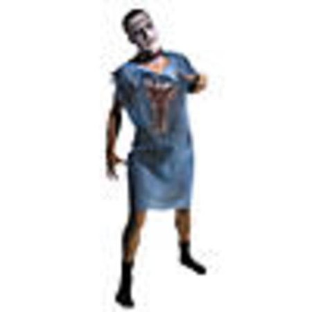 Men's Zombie Patient Gown Costume - Psych Patient Halloween