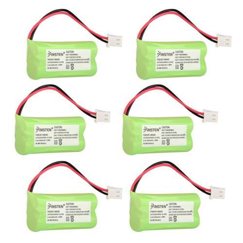 Insten (6 Pack) Extra Ni-Mh Cordless Phone Battery Power For Vtech BT-166342 CL80100 CL82100 CS6114 CS6114-2 CS6319 (6-Pack Bundle)