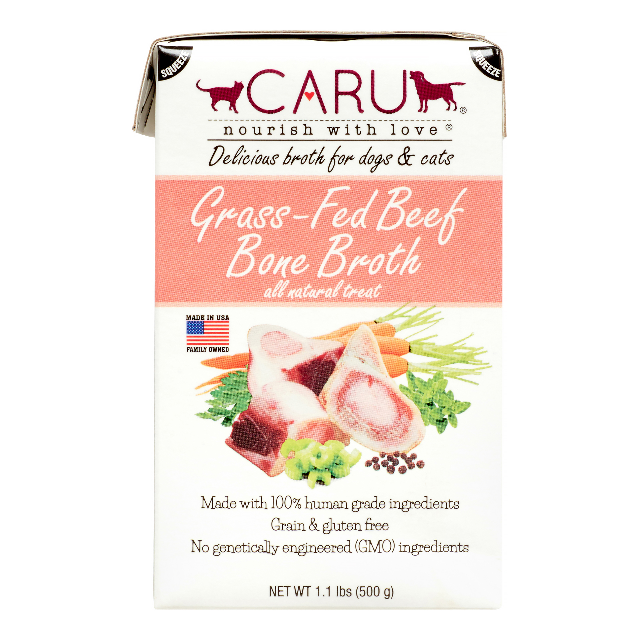 Caru Grass-Fed Beef Bone Broth for Dogs & Cats - 1.1 lbs