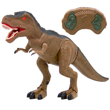 Best Choice Products 21in Kids Remote Control T-Rex Walking Dinosaur Play Toy Tyrannosaurus w/ Lights, Sounds - Brown](Build A Dino)