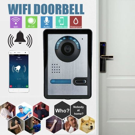- Clearance 7 Inch & 1/4inch CMOS HD Digital LCD Wired Night Vision Video Phone Doorbell Waterproof Door Intercom Camera 2 Monitor For Home Office Security