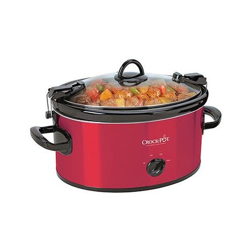 Sunbeam Products SCCPVL600-R Crock Pot Slow Cooker, Red, ...