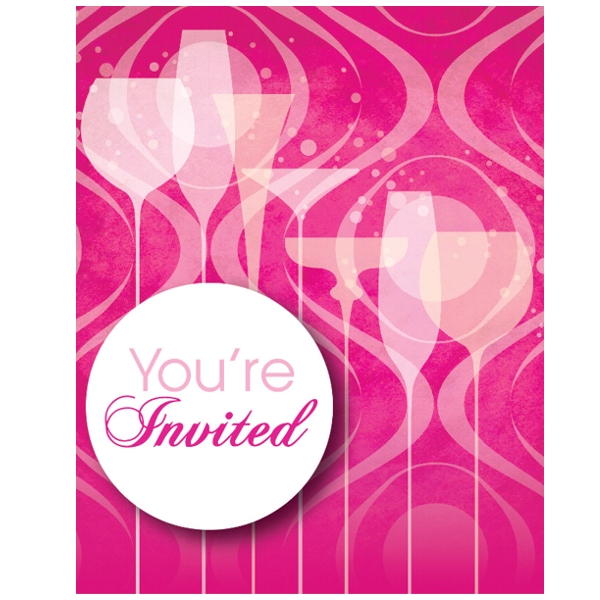 Fabulous Pink Party Invitations (8 ct)