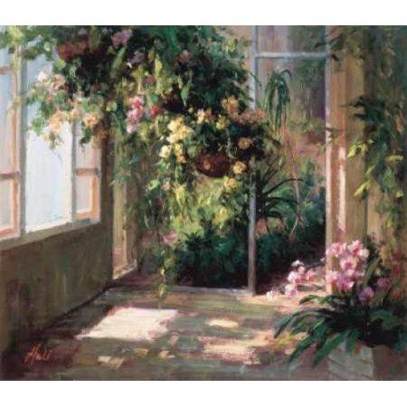 Atriums First Light II Stretched Canvas - Hali (12 x 12)