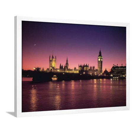 Big Ben and Houses of Parliamant, London, England Framed Print Wall Art By Alan (Big Ben London England Framed)