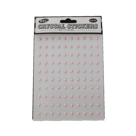 Sexy Sparkles 1 Sheet Acrylic Round Pearl Nail Art Decoration DIY Craft (Pink)