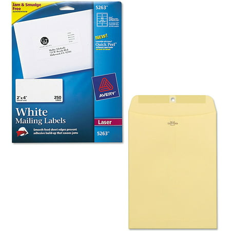 Avery Vinyl Envelopes - Avery Laser Shipping Labels with TrueBlock Technology, White 2