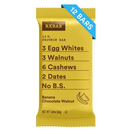 - RXBAR Whole Food Protein Bar Banana Chocolate Walnut 1.83oz Bars 12 Count