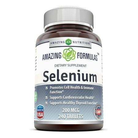 Amazing Formulas Selenium - 200 Mcg, 240 Tablets