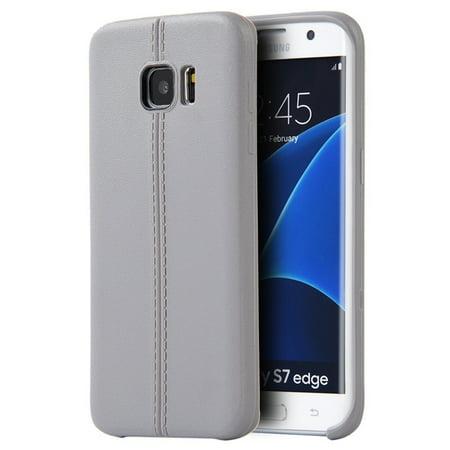 Samsung Galaxy S7 Edge Case, by Insten TPU Rubber Candy Skin Case Cover For Samsung Galaxy S7 Edge, Gray