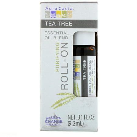 Aura Cacia  Essential Oil Blend  Purifying Roll-On  Tea Tree   31 fl oz  9 2 ml